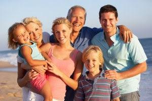Familie mit Hautjucken